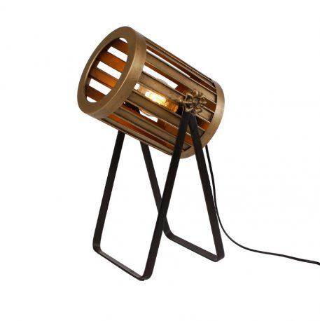 bureaulamp spot metaal goud en warm grijs