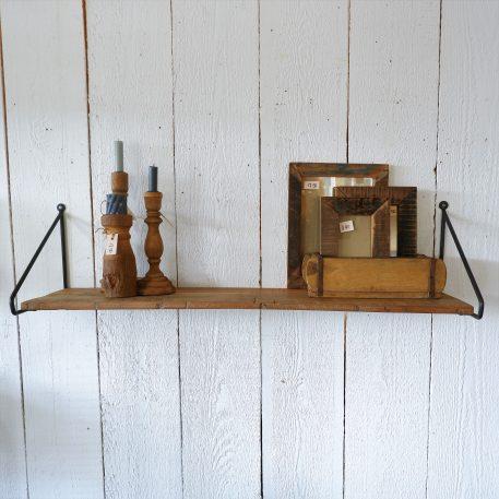 barnwood wandplank met ijzeren beugels breed 102 cm diep 28 cm5