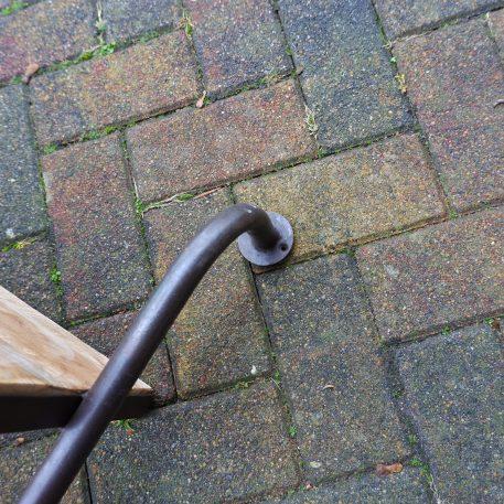 wandrek 2 planken vintage zwart bruin rond staal en mangohout hoog 80 cm breed 108 cm diep 30 cm13