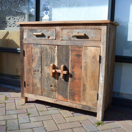 barn dressoir truckwood 2 lades 2 deuren hoog 91 cm breed 100 cm diep 40 cm sleeperwood oud hout12
