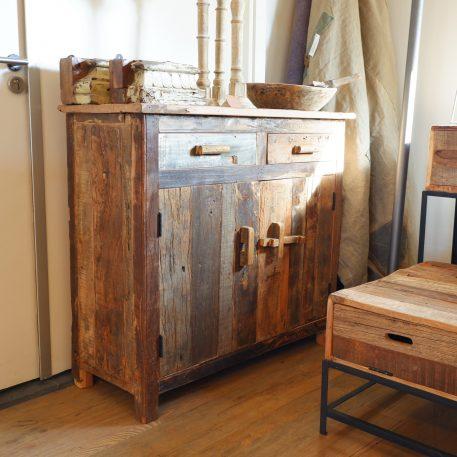 barn dressoir truckwood 2 lades 2 deuren hoog 91 cm breed 100 cm diep 40 cm sleeperwood oud hout17