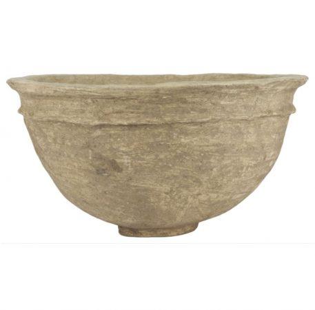 bowl of schaal van papier maché hoog hoog 29 cm en diameter 54 cm kleur klei van Ib-Laursen unique5