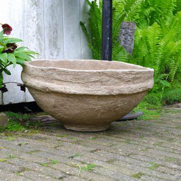 bowl of schaal van papier maché hoog hoog 29 cm en diameter 54 cm kleur klei van Ib-Laursen unique6