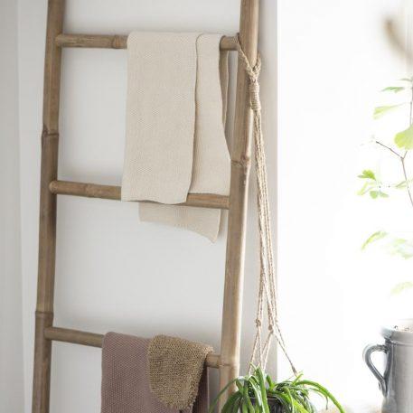 ib-laursen towel mynte latte knitted keuken handdoek off white gerstekorrel gebreid katoen 40 bij 60 cm3