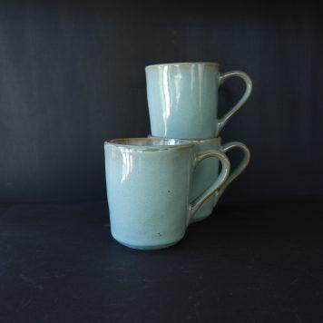 dunes beker met oor light blue ib-laursen stoneware of steengoed