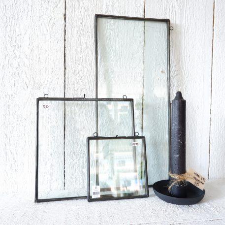 fotolijsten frame metaal antiek zwart hoog 22 cm breed 49 cm en hoog 26.3 cm en breed 25 cm en hoog 16.5 cm en breed 15.5 cm ib-laursen photo frame oblong