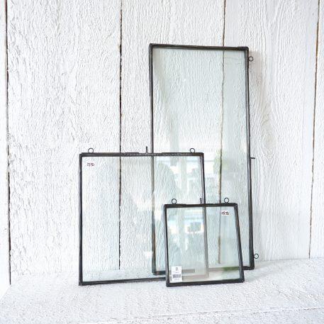 fotolijsten frame metaal antiek zwart hoog 22 cm breed 49 cm en hoog 26.3 cm en breed 25 cm en hoog 16.5 cm en breed 15.5 cm ib-laursen photo frame oblong1