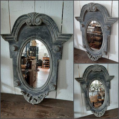 spiegel ossenoog ash grey hoog 81 cm breed 61 cm rand is 8 cm dik