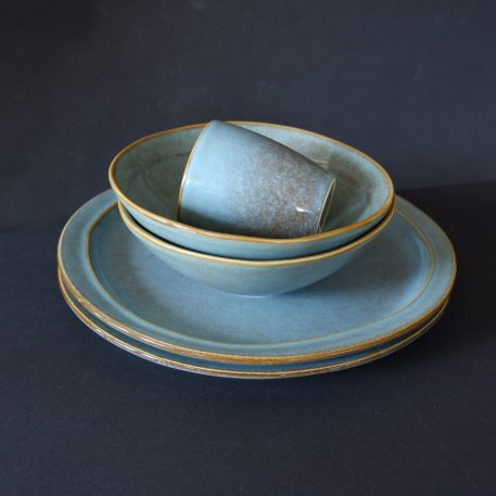 dunes dinerbord light blue en bowl en beker zonder oor ib-laursen dinner plate light blue dunes