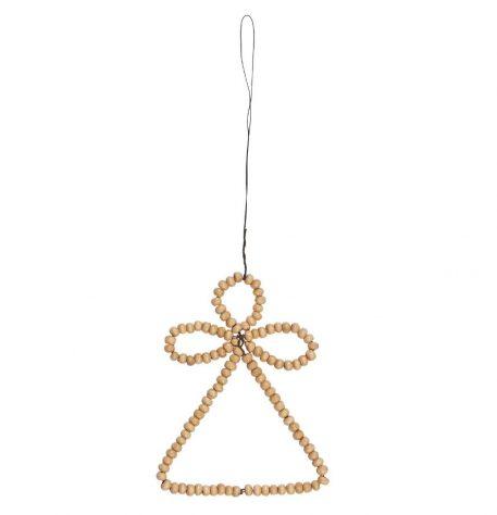 engel houten kraal naturel hoog 10.5 cm breed 8 cm angel for hanging wooden beads ib-laursen1