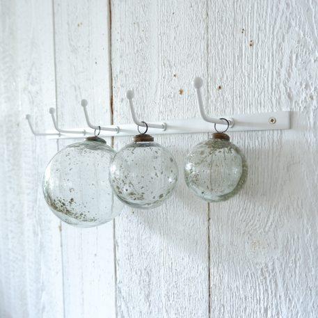 kerstbal glas metal chips clear diameter 7 cm diameter 10 cm en diameter 13.5 cm ib-laursen christmas ornament pebbled glass clear2