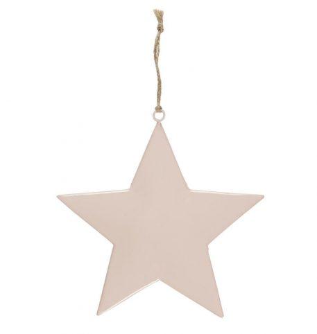 ster roze metaal hoog 15 cm breed 15 cm star for hanging with jute string ib-laursen5