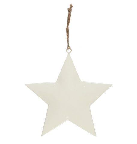 ster wit metaal hoog 20 cm breed 20 cm star for hanging with jute string ib-laursen1