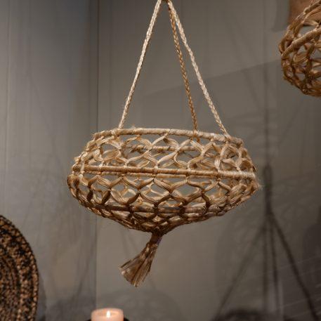 hangmand naturel jute diameter 35 cm hoog 20 cm en hoog 65 cm1