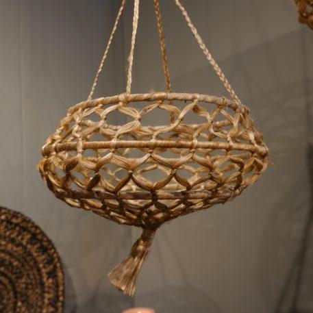 hangmand naturel jute diameter 35 cm hoog 20 cm en hoog 65 cm2