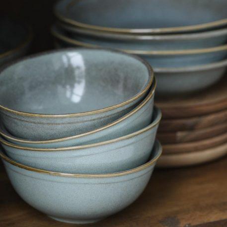 ib laursen muesli bowl kom light blue dunes hoog 6.2 cm diameter 15 cm