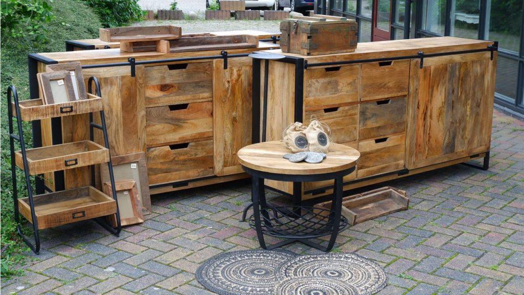 industriele meubelen meubels van mango travail dressoir tv meubel zwart metaal salontafel mango wandplanken spiegels oud houten fotolijst