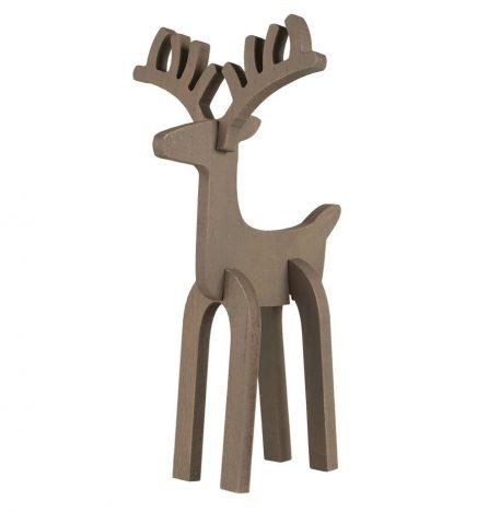 rendier rudolf bruin hout hoog 37 cm breed 20 cm diep 21 ib laursen reindeer rudolf