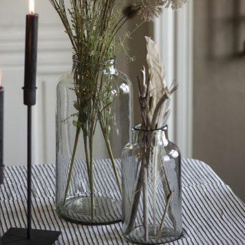 vaas smalle hals mond geblazen glas hoog 32 cm diameter 15.5 cm ib laursen vase tall clarity